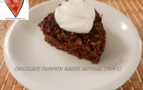 Chocolate Pumpkin Baked Oatmeal (THM E)