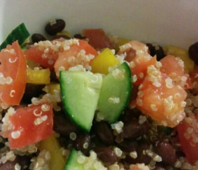 Quinoa & Black Bean Salad (THM E)