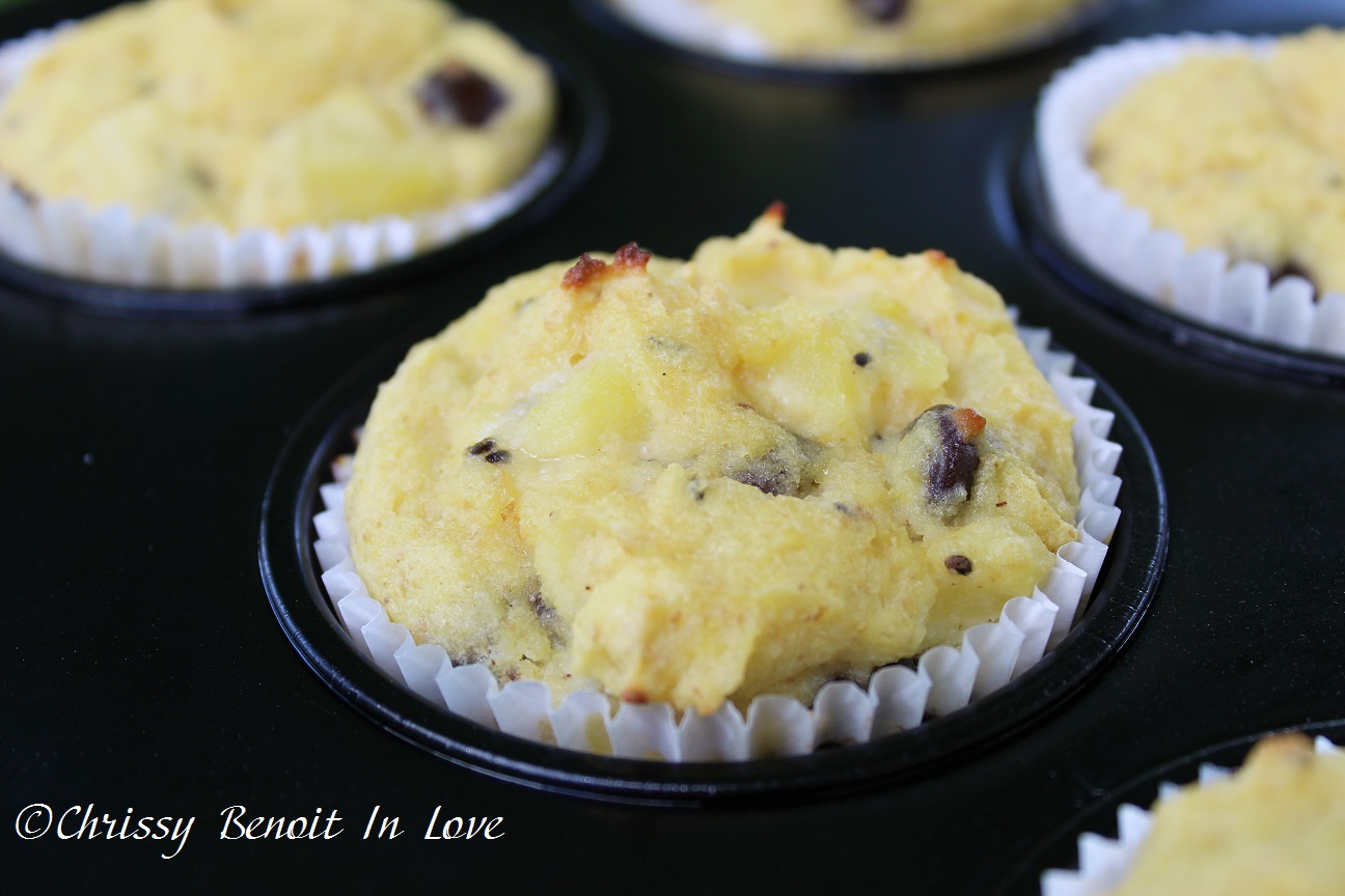 Kiwi Chocolate Chip Muffins (THM S)